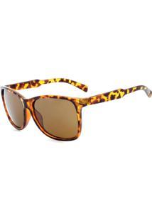 Óculos De Sol Prorider Animal Print Translúcido Com Lente Marrom - Dm-069-4