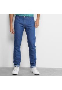 Calça Jeans Skinny Coca-Cola Escura Masculina - Masculino-Azul