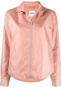 Aspesi Zip-Through Shirt Jacket - Rosa