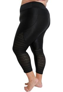 Calça Legging Fitness Corpusfit Freak Plus Size - Ikat Preto