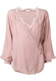 Gold Hawk Blusa Com Renda - Rosa
