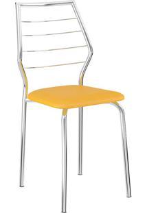Cadeira 1716 Cromada - Carraro - Amarelo Ouro