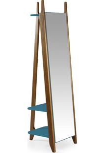 Espelho Stoka 169,5 Cm 988 Nogal/Azul - Maxima