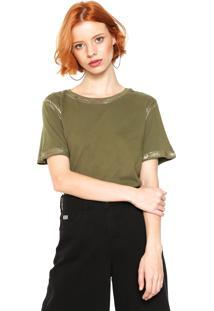 Camiseta Lança Perfume Detalhe Metalizado Verde