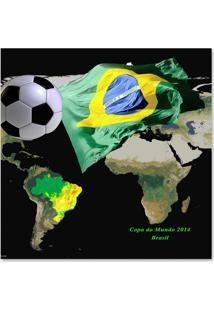 Quadro Brasil Verde 45 X 45 Cm Uniart