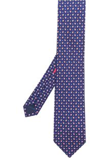Salvatore Ferragamo Gravata Com Estampada - Azul