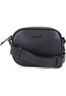 Bolsa Colcci Belt Bag Ovalada Feminina - Feminino-Preto