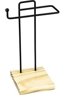 Porta-Toalha De Bancada Duler Steel Wood Preto