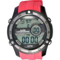 429c2a08892 Relógio Digital Speedo 81147G0 - Masculino - Vermelho Preto