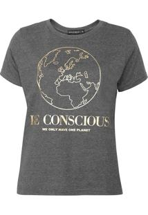 Camiseta Fiveblu Be Conscious Cinza