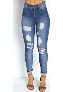 Calça Jeans Clara Cigarrete Super Lipo Sawary