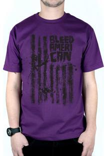 Camiseta Bleed American Dark Flag Roxo