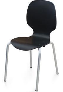 Cadeira Formiga Em Polipropileno Preto Com Pes Aco Carbono - 48010 - Sun House