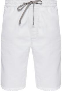 Bermuda Masculina Jeans Five Pockets - Off White