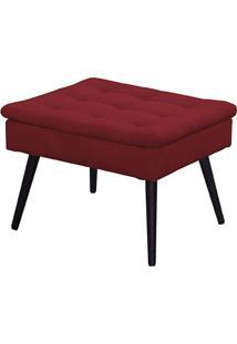 Puff Decorativo Conforto Vermelho1 Lugar Quadrado - Matrix