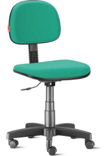 Cadeira Secretária Giratória Crepe Verde Esmeralda