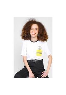 Camiseta Snoopy By Fiveblu Bolso Branca