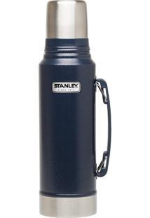 Garrafa Térmica Stanley Classic 1 Litro Em Aço Inox Azul Até 24 Horas Gelado