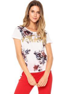 Camiseta Facinelli Floral Branca