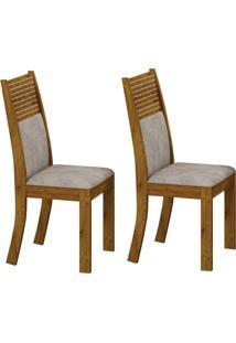 Conjunto Com 2 Cadeiras Havaí Canela E Pena Palha