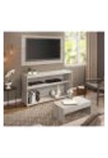 Rack C/Painel Tv Até 50 Pol.Mesa De Apoio Atualle Multimóveis Carvalle Texturizado 2839