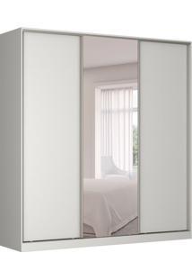 Guarda-Roupa Casal Com Espelho Tunas V 3 Pt 3 Gv Branco
