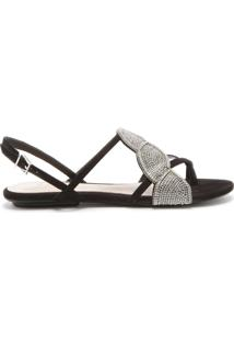 [Pré-Venda] Sandália Embellishment Strings Black | Schutz