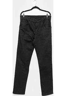 Calça Jeans Skinny Sawary Lisa Comfort Plus Size Masculina - Masculino-Preto