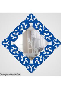 Espelho Arabesco- Espelhado & Azul- 28X28X5Cm- Ccia Laser