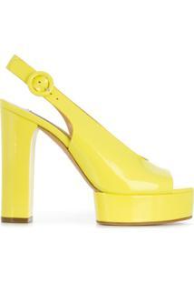 Casadei Sandália Com Fixação No Tornozelo - Amarelo