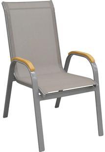 Cadeira Com Tela Maresias-Rivatti - Cinza