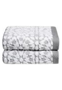 Jogo De Toalhas Para Lavabo Mosaic 30 Cm X 50 Cm 2 Pecas - Home Style