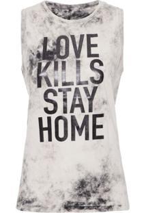 Regata Love Kills Tie Dye Replay - Cinza
