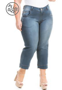 327e335f7 ... Calça Feminina Jeans Capri Charlotte Plus Size