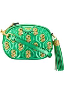 Moschino Dollar Motif Quilted Crossbody - Verde