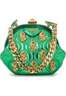 Moschino Bolsa Tiracolo Frame Dollar - Verde