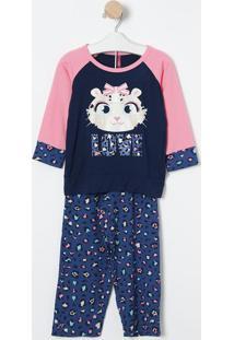 "Pijama ""Love""- Azul & Rosa- Puketpuket"
