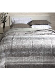 Cobertor Dupla Face Extramacio Casal Duo Blanket Cinza Bless - 100% Poliéster - Kacyumara