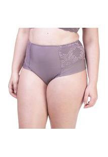 Calcinha Hot Pant Lateral Dupla Renda Camurça - 534.383 Marcyn Lingerie Alta Roxo