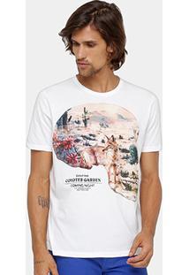 Camiseta Colcci Estampada Caveira Masculina - Masculino