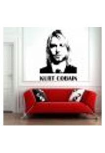 Adesivo De Parede Nirvana Kurt Cobain - Médio