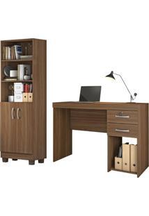 Conjunto Home Office 2 Peças Jcm Movelaria Rovere