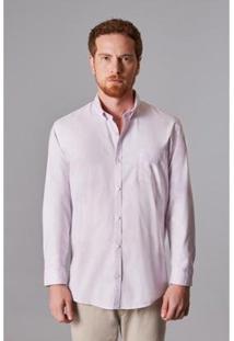Camisa Ml Oxford Pima Leve Reserva Masculina - Masculino-Rosa