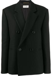 Saint Laurent Classic Tailored Blazer - Preto