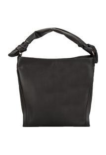 Bolsa Shopping Bag Gabriela Detalhe Em Nó Preto