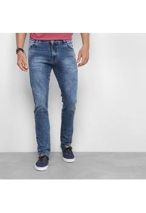 Calça Jeans Skinny Gangster Stone Patch Masculina - Masculino