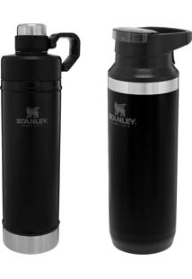 Garrafa Térmica 473Ml Switchback + Stanley 750Ml Hydration Preta