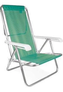 Cadeira Reclinável Alumínio 8 Posições Anis - Unissex-Verde Claro