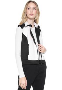 Colete Calvin Klein Jeans Recortes Resinados Preto/Off-White