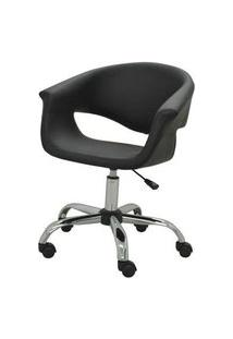 Cadeira Office Selena Preta Base Rozidio 82Cm - 62962 Preto